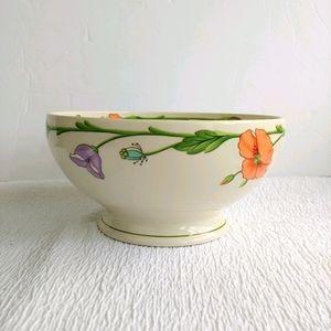 "Villeroy & Boch Amapola 7"" Footed Vegetable Bowls"